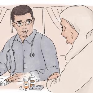Dokter Mohammed Al Youssef is endocrinoloog in Syrië